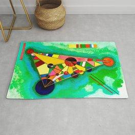 Multi Colored Triangle by Kandinsky Rug