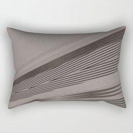 Abstract asymmetrical pattern in beige tones . Rectangular Pillow