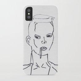 Grace Jones Smoking iPhone Case