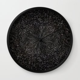PLANET PIXEL BLACK ABYSS Wall Clock