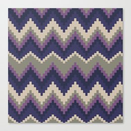 Jagged Violet Canvas Print