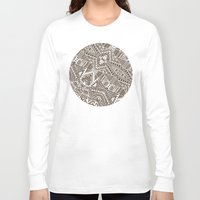 tribal Long Sleeve T-shirts featuring Tribal  by Terry Fan