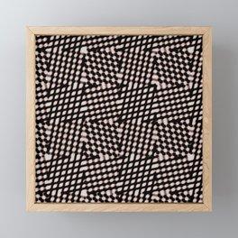 Checked Framed Mini Art Print