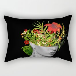 Flower Head Rectangular Pillow