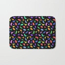 Fun Dinosaur Pattern (Black) Bath Mat