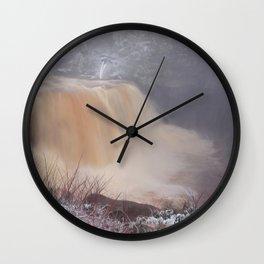 Winter at Blackwater Falls Wall Clock