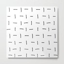 Flip Flop Lines Metal Print