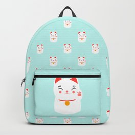 Lucky happy Japanese cat pattern Backpack