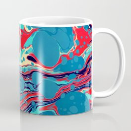 Vintage Marble Blue Watercolor Ink Abstract Pattern Coffee Mug