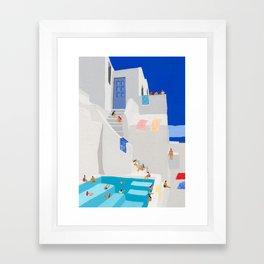 Santorini Sun Framed Art Print