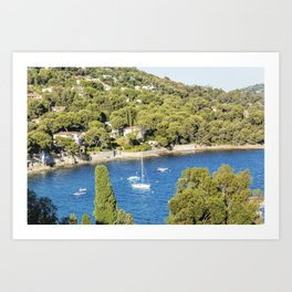 Seacoast near Le Lavandou and Bormes-les-Mimosas in French Riviera Art Print