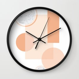 Minimal Abstract Modern Design Terracortta Orange Wall Clock