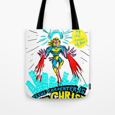 we need a hero to fight the evil Santa Claus Tote Bag