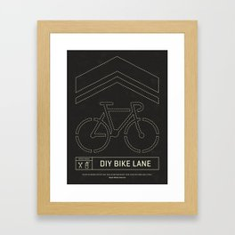 DIY Bike Lane Framed Art Print