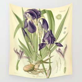 Purple Iris Wall Tapestry