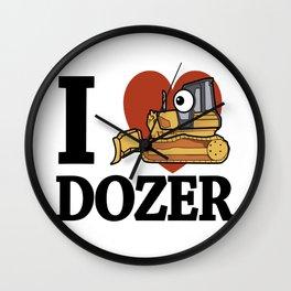 I love Dozer Wall Clock