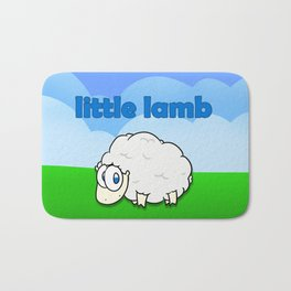 Little lamb Bath Mat