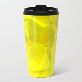 Pale Yellow Poinsettia 1 Abstract Polygons 3 Travel Mug