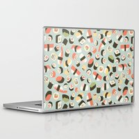 novelty Laptop & iPad Skins featuring Yummy Sushi! by Eine Kleine Design Studio