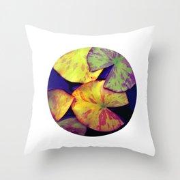 lily pads IIX Throw Pillow