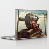 tank girl Laptop & iPad Skins featuring Tank Girl Pepper by St.Man