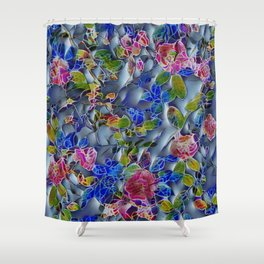 embossed floral Shower Curtain