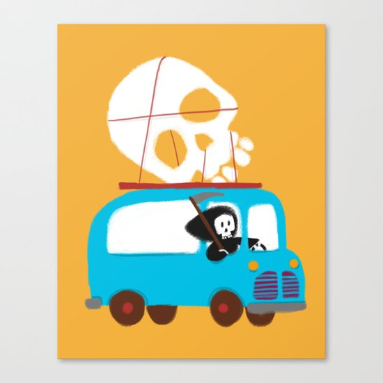 Death on wheels Canvas Print