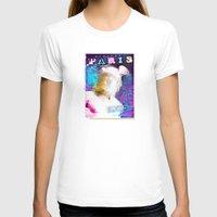 posters T-shirts featuring Paris Posters - Hermez by G_Stevenson