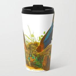 Cowbird Bird Illustration Travel Mug