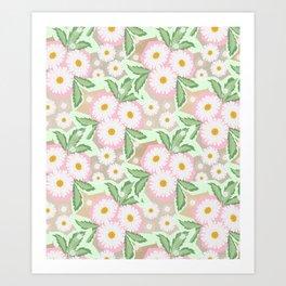 Chamomiles. Pastel'. Art Print