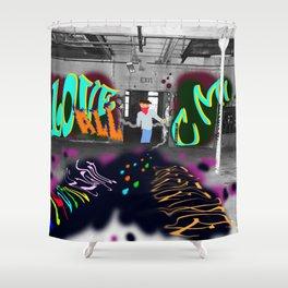 Grafiti Magic Shower Curtain