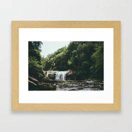 Compression Falls Framed Art Print