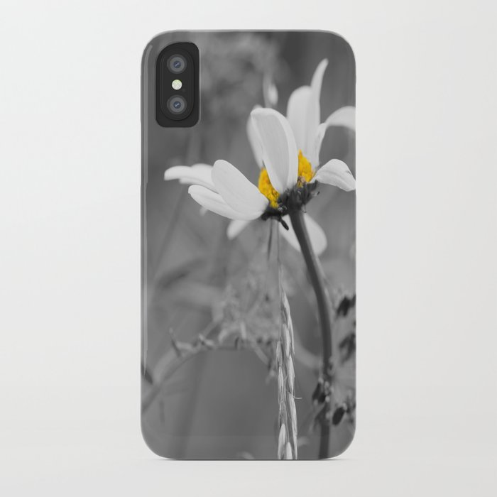 99c72dd0a8 White daisy on a grey day #decor #society6 iPhone Case by pivivikstrm |  Society6
