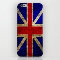 british flag iPhone & iPod Skins featuring British Flag by Jason Michael