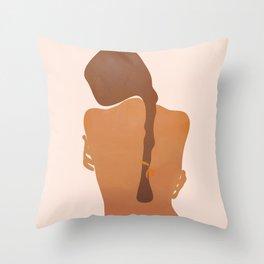 Minimal Female Figure Throw Pillow