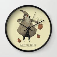 potter Wall Clocks featuring the potter. by Louis Roskosch