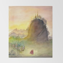 Mount Popa Throw Blanket