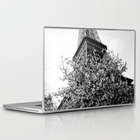 eiffel tower Laptop & iPad Skins featuring Eiffel Tower by Msimioni