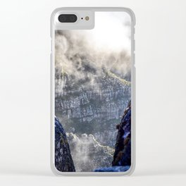 Table Mountain, South Africa Landscape Clear iPhone Case