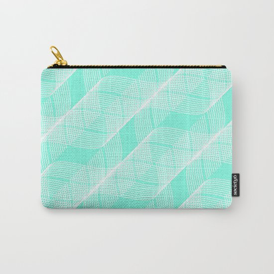 Mint Helix Carry-All Pouch