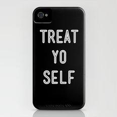 Treat Yo Self Black iPhone (4, 4s) Slim Case