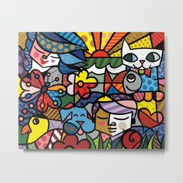 Bambam and Friends Metal Print