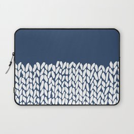 Half Knit Navy Laptop Sleeve