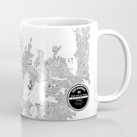 sydney Mugs featuring SYDNEY by Maps Factory