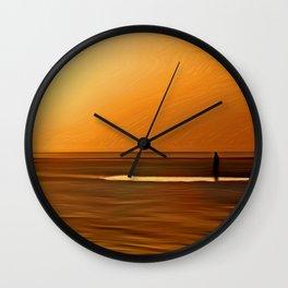 Gormley Iron Man (Digital Art) Wall Clock