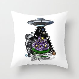 Good For Muffin Space Cake Throw Pillow