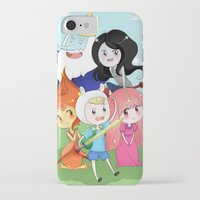 finn and jake iPhone & iPod Cases featuring Finn & Jake  by Rikku Hanari