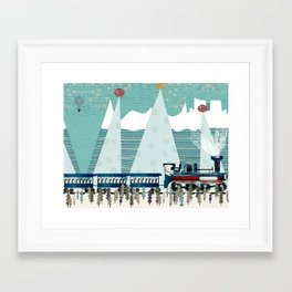 the penguin express Framed Art Print