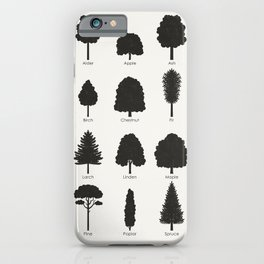 Infographic Guide for Tree Species by Shapes or Silhouette iPhone Case