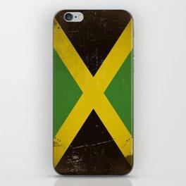 Vintage flag of Jamaica iPhone Skin